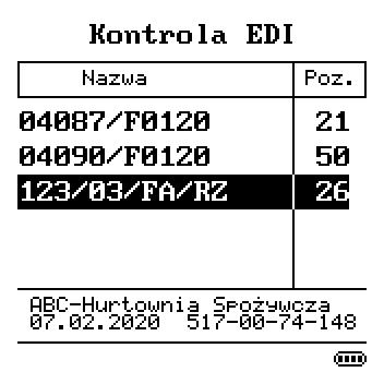 Kontrola EDI