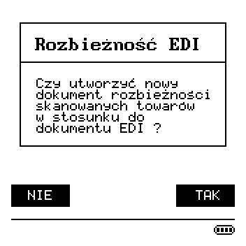 Generowanie rozbieżności EDI